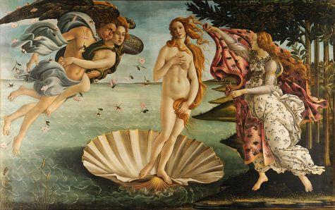 """""""El nacimiento de Venus"""" de Botticelli. Se considera el ejemplo más puro del ideal de belleza renacentista."""