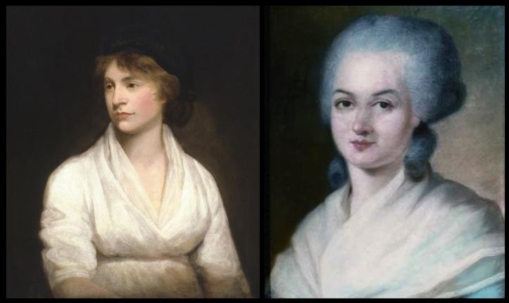 Mary Wollstonecraft y Olympe de Gouges, las primeras feministas.